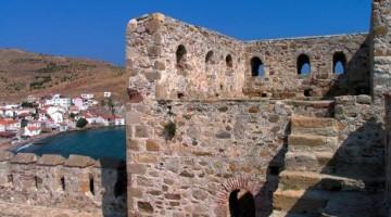 Ottoman Fortress, Sultan Suleyman Mamhut II, Bozcaada island,( Old Tenedos), Turkey.