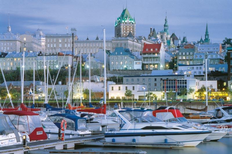 Canada: una cascata a Québec City