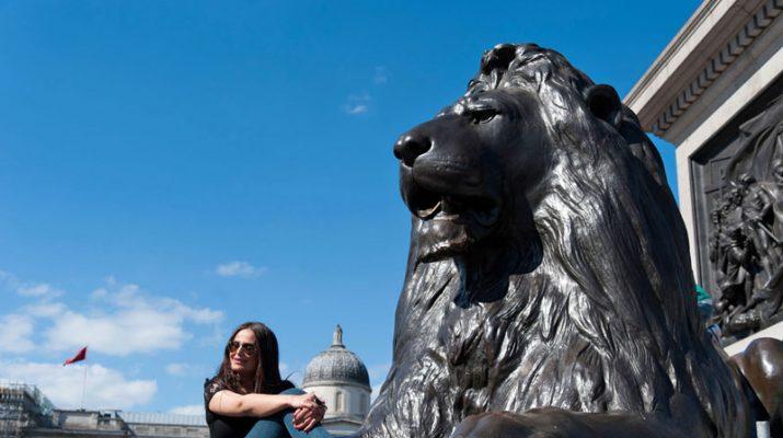 Foto Londra: fra leoni e sorprese a Trafalgar Square