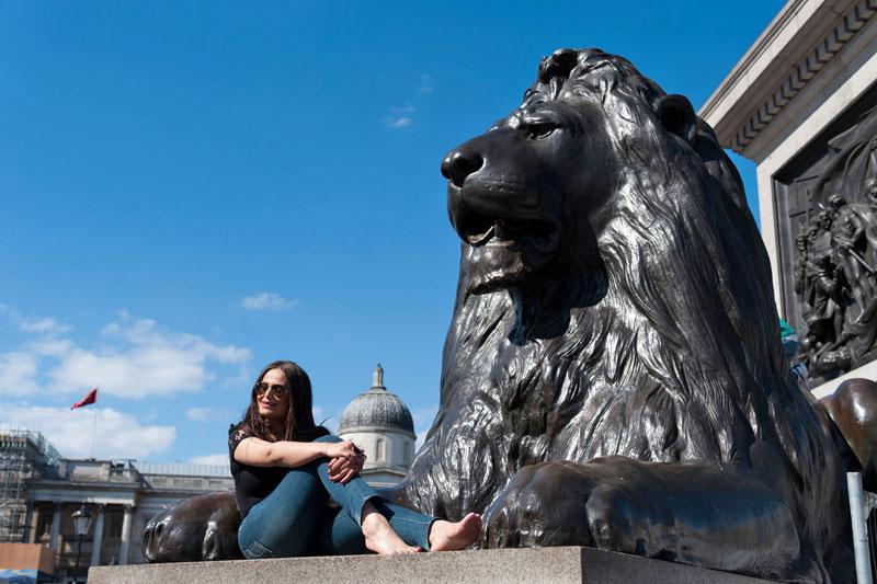 Londra: fra leoni e sorprese a Trafalgar Square