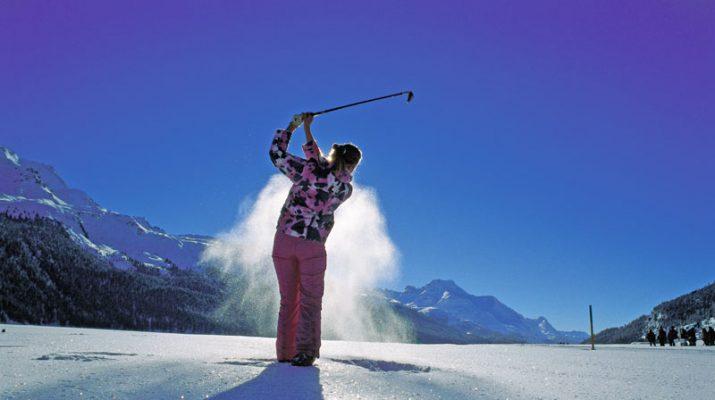 Foto St Moritz, l?inverno di sport al sole
