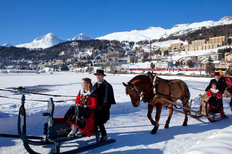 St Moritz, l?inverno di sport al sole