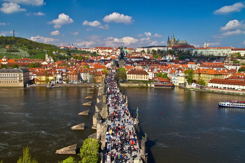 Praga, primavera in festa