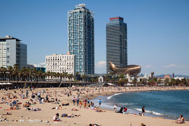 Barcellona e le inaspettate spiagge in città