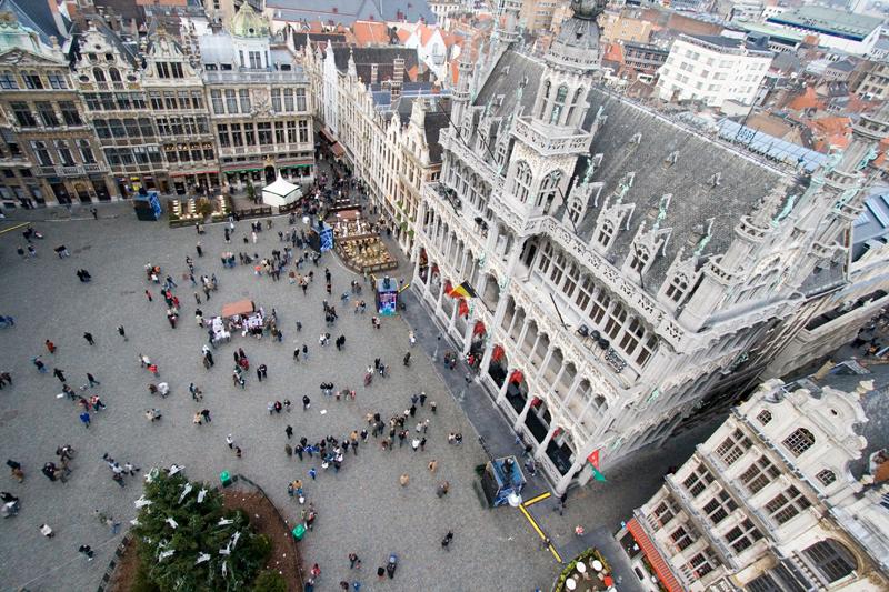 Nella Grand Place, il cuore fiorito di Bruxelles