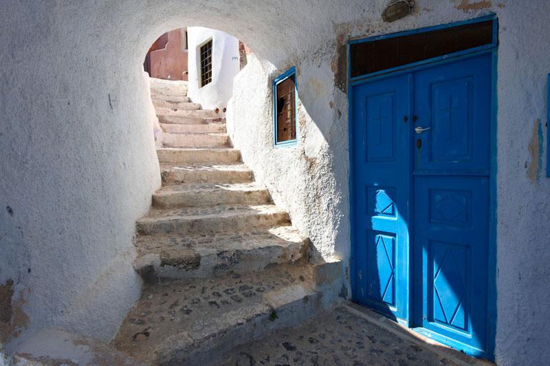 Tramonto d'estate a Santorini