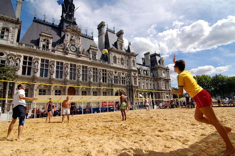 Spiaggia in città. A Parigi