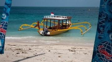 Il porto dell'isola Trawangan, nell'arcipelago delle Gili, in Indonesia (foto Alamy/Milestone Media)