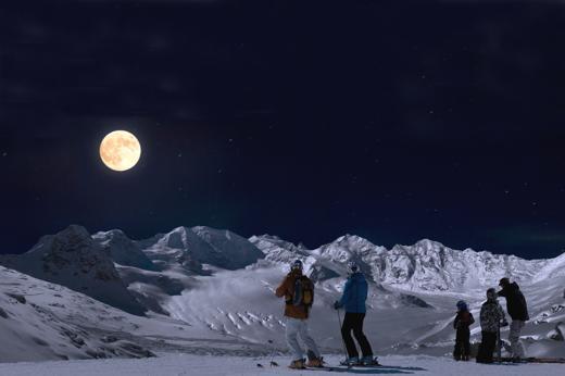 Foto Engadina: sciare con la luna