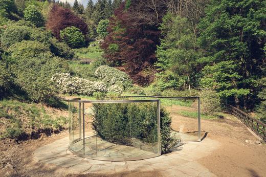 Arte fra i rododendri: il padiglione  di Dan Graham all'Oasi Zegna