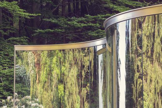 Foto Arte fra i rododendri: il padiglione  di Dan Graham all'Oasi Zegna