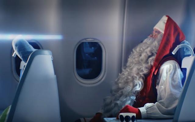 Foto Un aereo per Babbo Natale