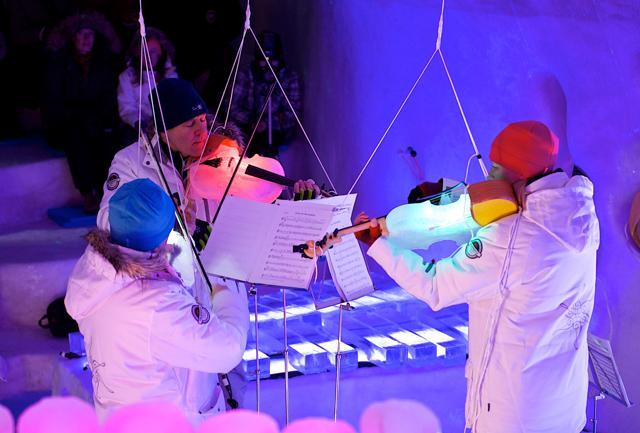 Ice-music: un concerto di ghiaccio in Lapponia