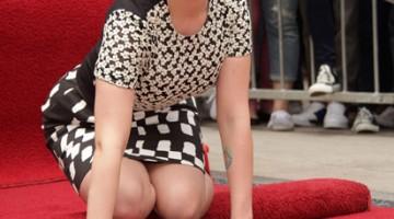 Scarlett Johansson sulla Hollywood Walk of Fame (Foto Alamy/Milestonemedia)