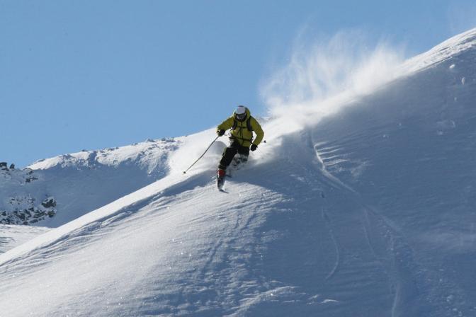 Sulla neve, a tallone libero