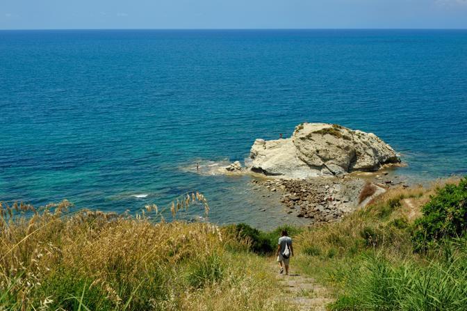 La spiaggia di Trentanova, tra le più belle insenature del Cilento