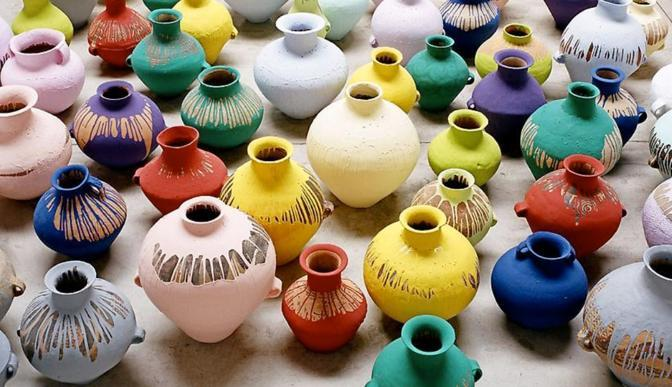 Ai Weiwei, Coloured Vases, Lisson Gallery