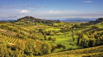 Benessere in Piemonte: un tipico paesaggio sulle colline astigiane