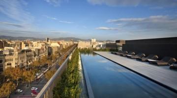 Vista sulla città dalla terrazza del Mandarin Oriental Hotel