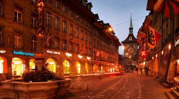 Le pittoresche strade nel centro di Berna con le tradizionali fontane e i palazzi antichi (foto: swiss-image.ch/Terence du Fresne)