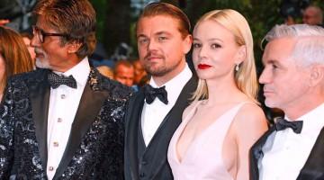 Leonardo Di Caprio e Carey Mulligan in posa prima della première cinematografica del Grande Gatsby (foto: Olycom)
