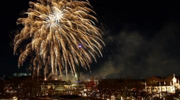Fuochi d'artificio sul cielo di Copenhagen
