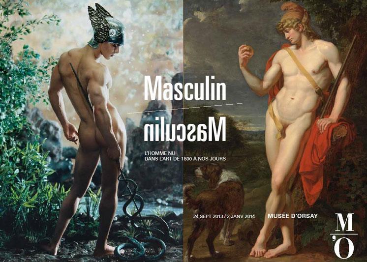 La locandina della mostra più osé d'autunno: Masculin/Masculin al Musée d'Orsay (foto: Facebook/Museed'Orsay)