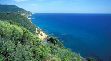 Il paesaggio nei pressi di Punta Ala, frazione del comune di Castiglione della Pescaia dove sorge l'omonima e famosa località balneare (foto Alamy/Milestone Media)