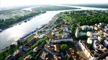 Una veduta aerea di Belgrado, che conta due milioni e mezzo di abitanti (foto: National Tourism Organisation of Serbia)
