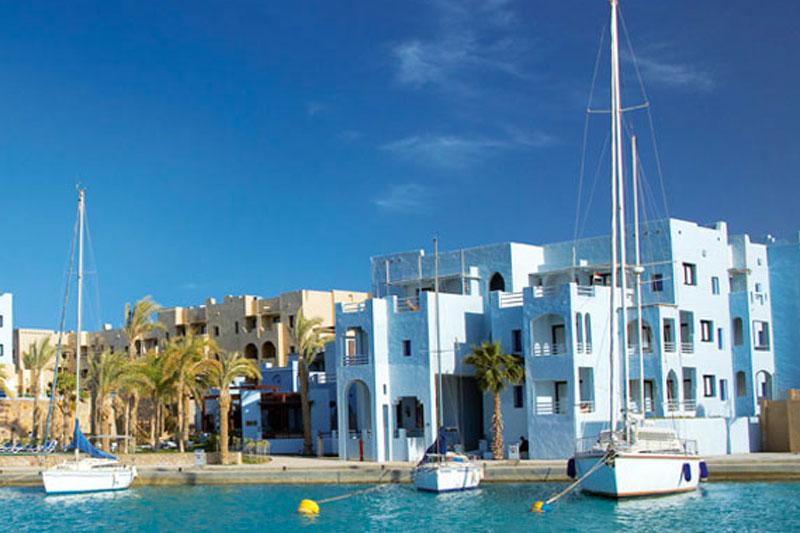 L'elegante e nuova marina di Port Ghalib può contenere oltre 1000 yachts