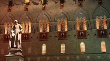La sede della Banca Monte dei Paschi di Siena, in piazza Salimbeni (foto: Carlotta Lombardo)