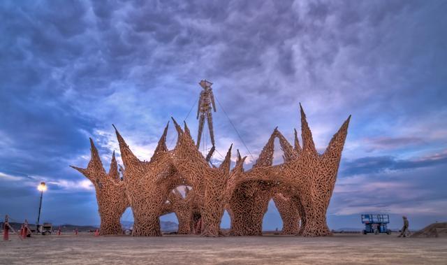 Foto Burning Man:  in 70mila per l'happening  nel deserto del Nevada