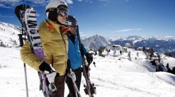 Lo sci  in uno dei comprensori più panoramici del Tirolo