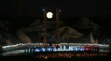 All'Arena di Verona,  l′Aida di Giuseppe Verdi allestita da La Fura del Baus. Foto Ennevi, per gentile concessione della Fondazione Arena di Verona