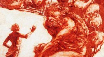 """""""Il mio nome è Nessuno"""", dal ciclo omerico di Americo Mazzotta in mostra al terzo piando di castel Sismondo."""