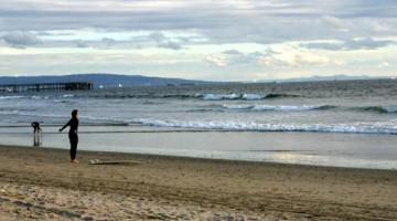Un surfer a Venice Beach Santa Monica (foto Discover California)