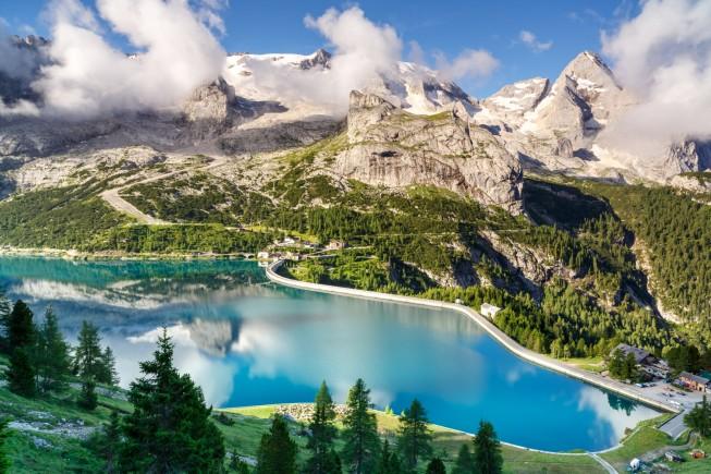 Marmolada glacier, Dolomites, Italy