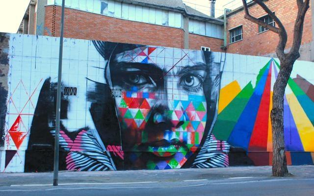 Foto Dal Brasile a Roma:   murales e ritratti  di Kobra