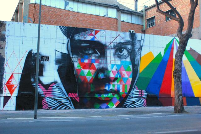 Dal Brasile a Roma:   murales e ritratti  di Kobra