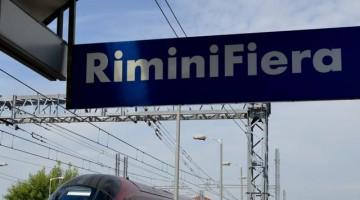 Alla stazione di Rimini Wellnes, fiera del fitness della Riviera Romagnola.