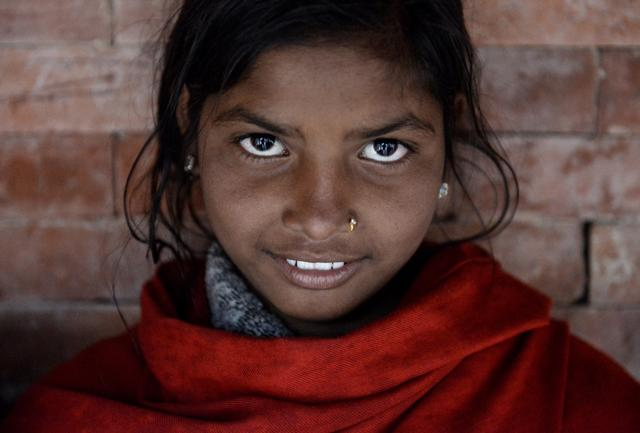 Una bambina a Bhaktapur.