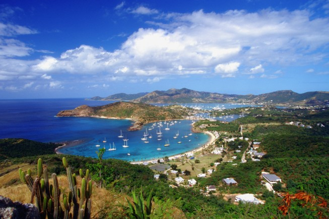 English Harbour and Falmouth Harbor, Antigua, Caribbean