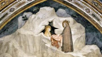 La Maddalena eremita, affresco di Giotto nella Chiesa inferiore di Assisi