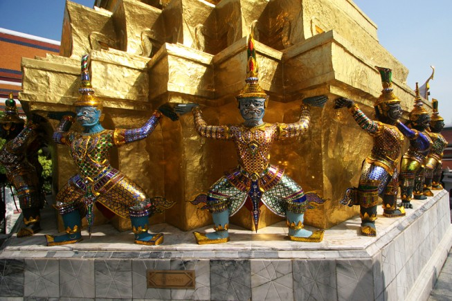 Demons in Grand Palace complex of Bangkok