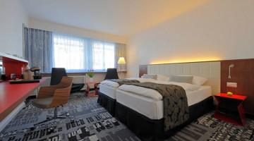 L'elegante camera del Radisson Blu di Basilea
