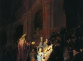Rembrandt van Rijn, Canto di lode di Simeone, 1631