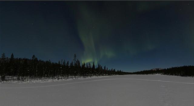 Foto Google Street view: l'aurora boreale è in diretta