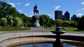 La fontana nei Giardini Pubblici di Boston (foto Tim Grafft-MOTT/Massachusetts Office of Travel & Tourism)