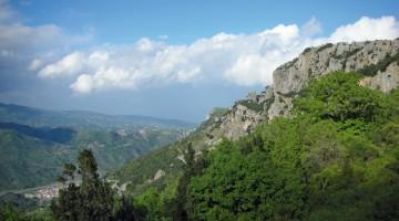 Una veduta del Massiccio nei pressi di Gerace, in Calabria