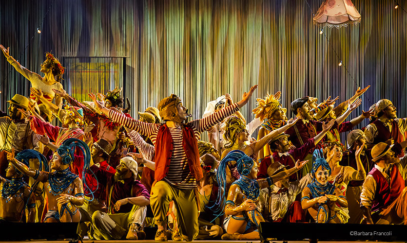 Un momento dell'anteprima dielllo show del Cirque du Soleil per Expo 2015 (foto Barbara Francoli\ expo2015.org)